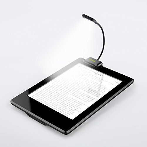 ikross negro doble led de luz de lectura de libros de lectu