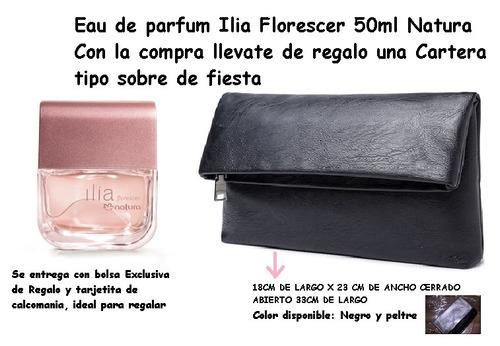 ilia florescer natura femenino 50ml + cartera simil cuero