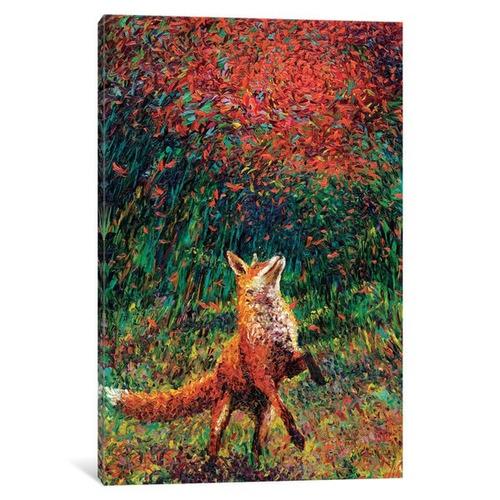 ilienzo fox fire by iris scott impresion en lienzo