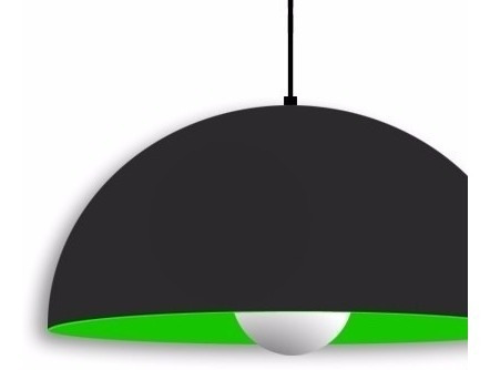 iluminacion colgante  de pvc con lampara de  led incluida