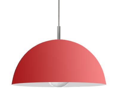 iluminación colgante semiesfera variedad de colores 30cm