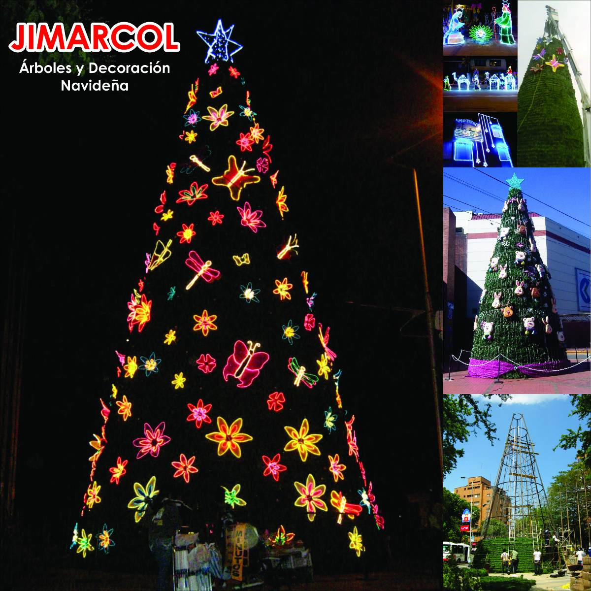 Iluminacion Decoracion Arboles De Navidad Gigantes 2 en
