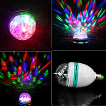 Bombillo Led Giratorio Multicolor. Laser, Ideal Para Eventos