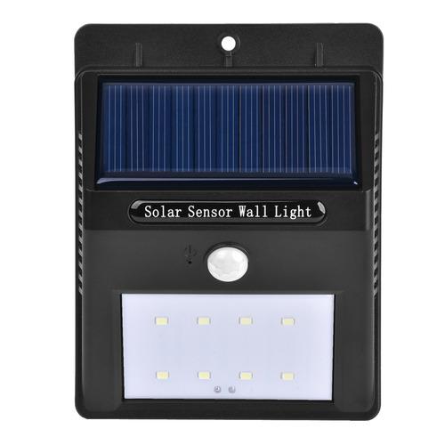 iluminacion exterior panel solar 5 led blanco vida luz