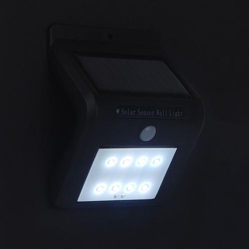 iluminacion exterior panel solar 8 leds ip65 motion sensor