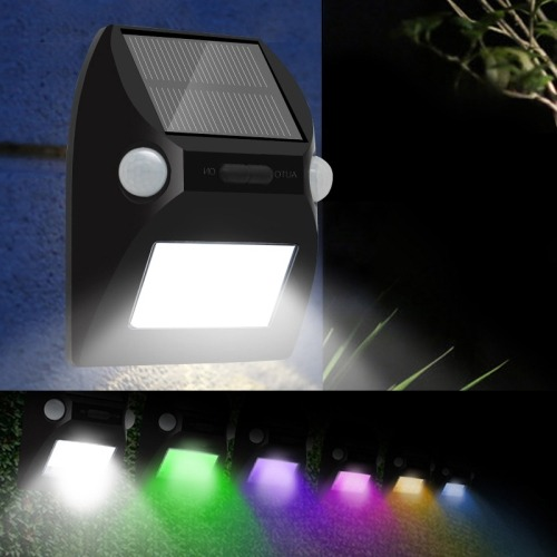 Superieur Iluminacion Exterior Panel Solar Led Rgb Sensor Pared