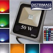 Reflector Led 50w Rgb Multicolor A Control Remoto 16 Colores