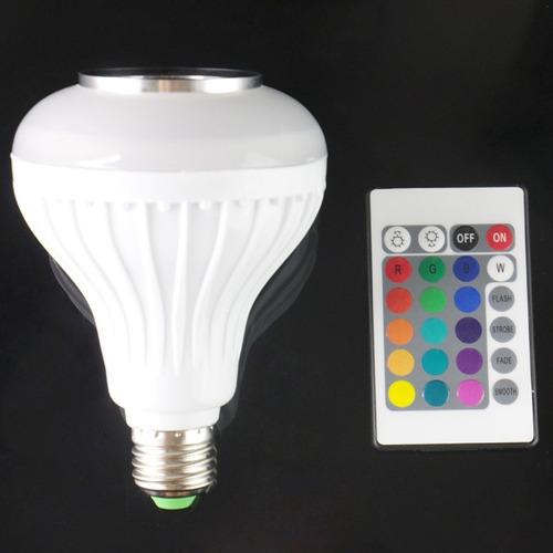iluminacion inteligente bombilla altavoz e27 rgb led luz