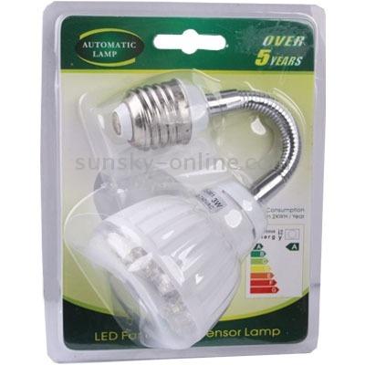 iluminacion inteligente luz led sensor dia 3w blanco