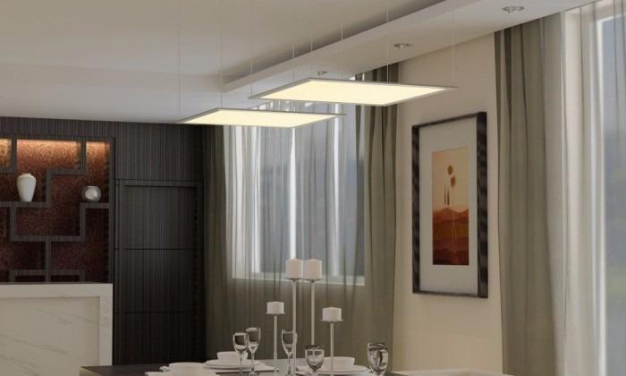 Iluminación-lámpara D Techo Led 60x60 Cm Oficina-cocina-baño ...