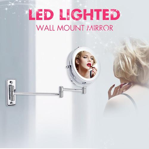 iluminación led espejo de maquillaje de afeitar con soporte