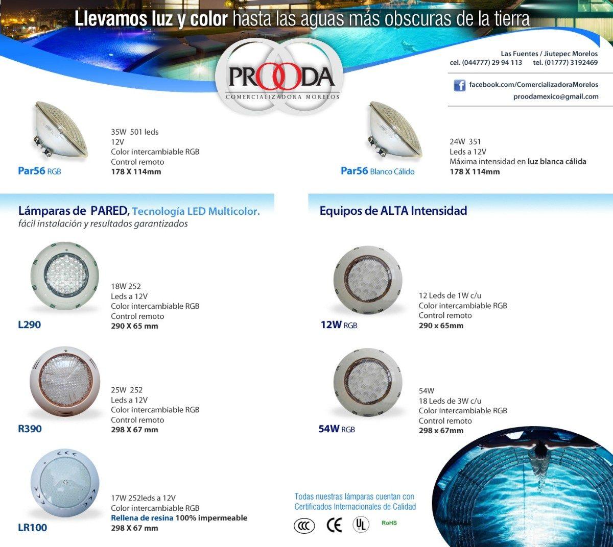 Iluminaci n para alberca led 54w 3 en mercado libre for Iluminacion para albercas