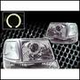 Opticos Cromados Con Angel Eyes Ford Ranger 98-01