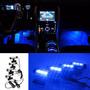 Kit Luces Led Interior Azul 12 Volt 4 Und.x 6 Ctms