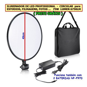 Iluminador De Led Light Profissional, Painel Grande 75w
