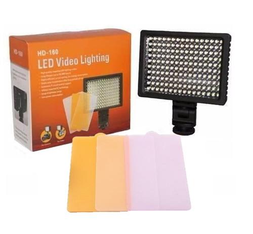 iluminador hd - 160 led para foto video dslr filmagem