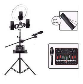 Anchor1 LED Ring Light with Tripod Stand /& Phone Holder for Live Streaming /& YouTube Video Dimmable Desk Makeup Ring Light for Photography