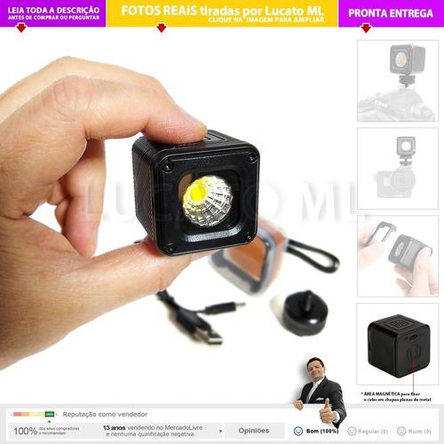 iluminador led l1 p/ foto vídeo similar ao lume cube   np