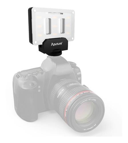iluminador led p/ câmera aputure al-m9 fotografia + brinde