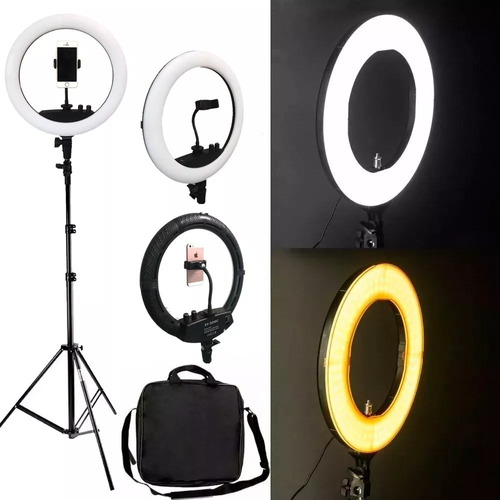 iluminador led ring light rl12 bicolor