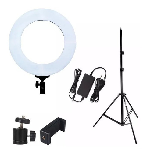 iluminador led ring light rl18 bicolor completo com tripé