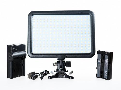 iluminador led triopo  p/ video + cargador + bateria +cuotas