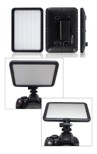 iluminador led triopo ttv-204 p/ video dslr luz calida/fria -no incluye cargador ni batería-