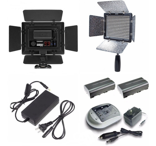 iluminador led yn-300 iii 2 baterias np-f550 cargador fuente