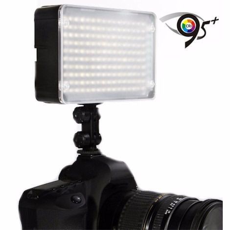 iluminador para video amaran 160 led + bateria + cargador