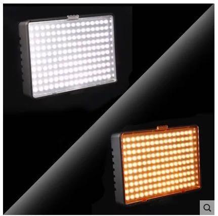 iluminador profissional de 160 led+bateria+carreg