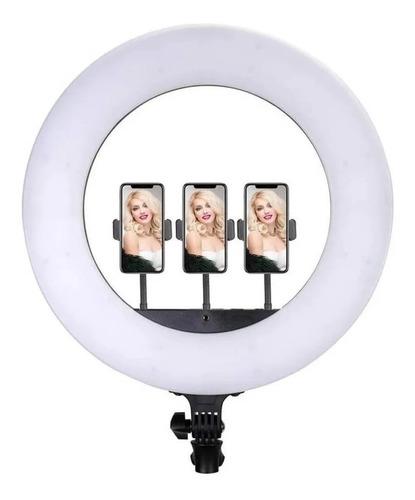 iluminador ring light greika cl-18 3 suportes p/ smartphones