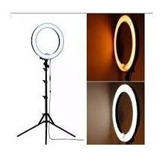 iluminador ring light portátil spectrum sp26 com tripé de 2m