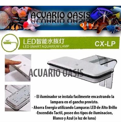 iluminador touch a led atman cx-lp luz blanca / azul