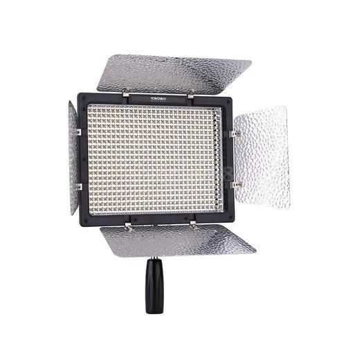 iluminador yn600 lii led +2 baterías + fuente + pie + rotula