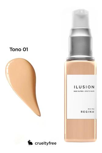 ilusion base de maquillaje matificante oil free regina