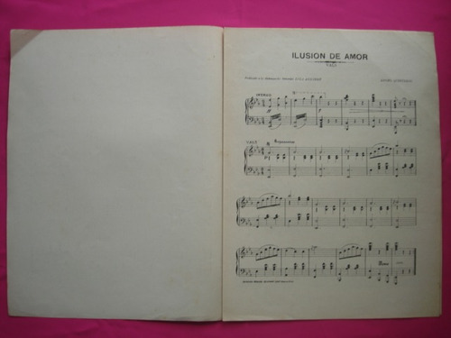 ilusion de amor - partitura vals para piano angel quinteros