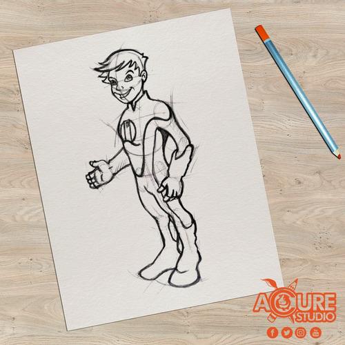 ilustración - dibujo - diseño gráfico, - retratos a mano