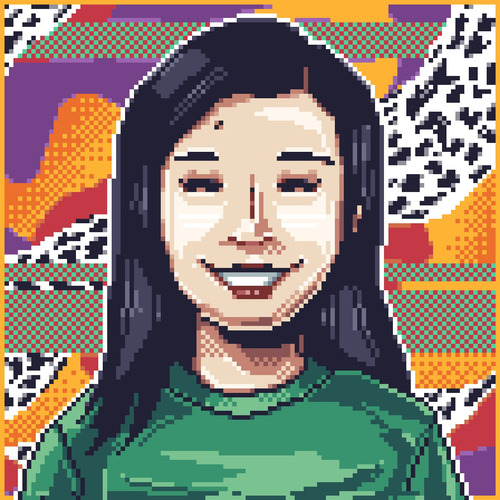ilustración pixelart