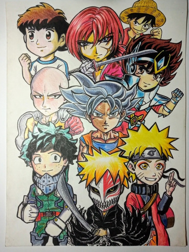 ilustraciones estilo comic, anime, cartoon, retratos.