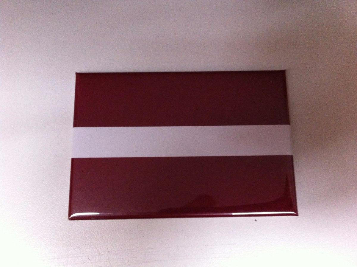 Ímã da bandeira da letônia r 19 83 em mercado livre