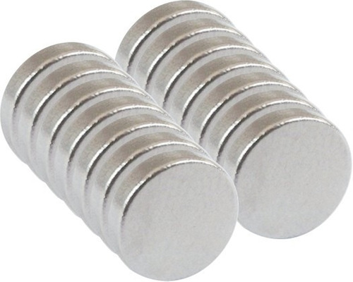 imã de neodímio 10 peças / super forte / 12,5mm x 2mm