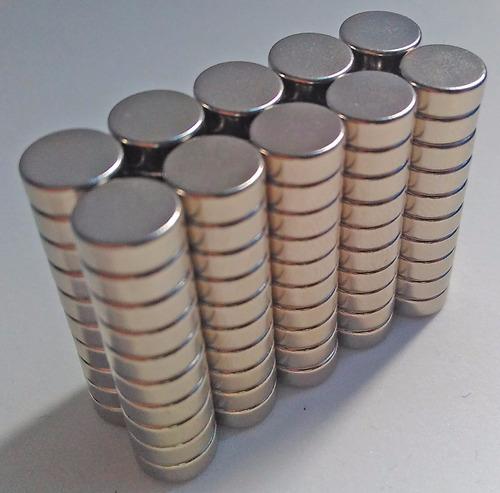imã de neodímio 100 peças -  8mm x 3mm - super forte