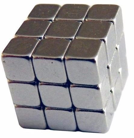 ímã de neodímio bloco 5x5x5 mm 27 pç n50 6300 gauss