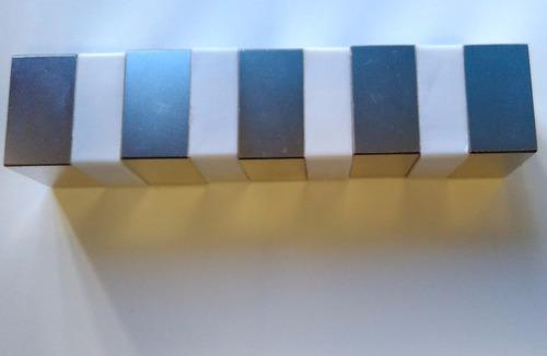 imã de neodímio n52 - 5,08cm x 5,08cm x 2,54cm - super forte