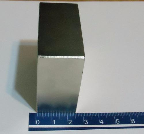 ima de neodímio - 50,8mm x 50,8mm x 25,4mm - 1 peças  155 kg