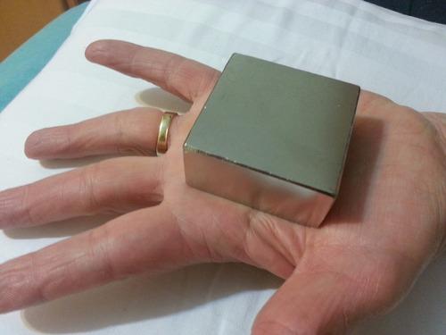ima de neodímio n50  super forte  50,8mm x 50,8mm x 25,4mm