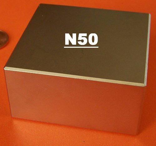 ima neodimio / super forte / 50,8mm x 50,8mm x 25,4mm n50