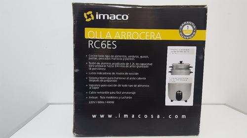 imaco olla arrocera rc6es c/vaporera 1.2lt - gris