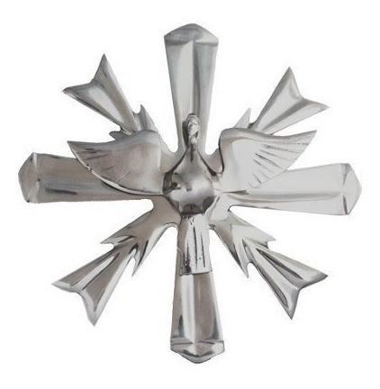 imagem alumínio divino espirito santo 33cm