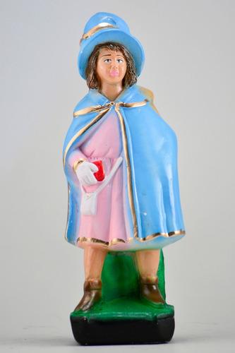 imagem camponesa escultura 100% em gesso estatua erês